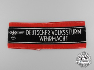 A German Volkssturm of the Wehrmacht Armband