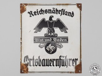 A Large German Sign for the Bureau of the Magistrate