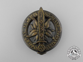 A Fine Quality 1939 SA Group Hochland Championships Badge by Klotz und Kienast