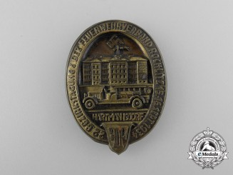 A 1934 Rochlitz Region Hartmannsdorf Volunteer Firefighter's Badge