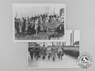 Two Press Photos of Reich Minister Rudolf Heß at the Mittelland Canal