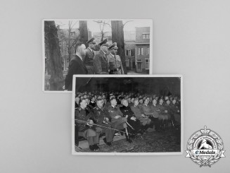 Two Press Photos of German Political Officials in the Netherlands