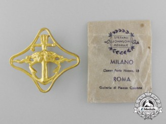 Italy. A Royal Navy Cruisers War Navigation Badge, (2nd Degree) with Packet, c.1942