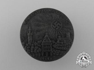 A 1938 Wetterau District Council Day Badge by Wilhelm Jäger