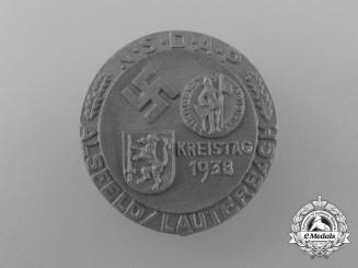 A 1938 NSDAP Alsfeld/Lauterbach District Council Day Badge
