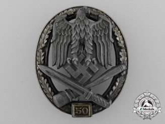 "A Special Grade General Assault Badge ""50"" - by Maker ""Juncker"""