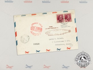 """An Unopened Historic Graf Zeppelin """"Around the World Tour"""" Airmail Envelope"""