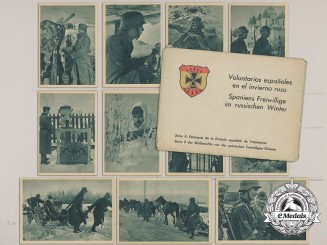 A Spanish Volunteers Division Twelve Postcard Set in its Original Sleeve