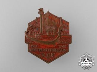 Germany, KDF. A 1938/39 Mediterranean Sea Travel Badge, by Ferdinand Hoffstätter