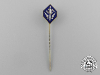 A German Third Reich Period Stenogropger's Union Membership Stick Pin