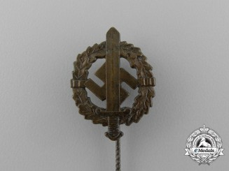 Germany. A Bronze Grade SA Sports Badge Stick Pin