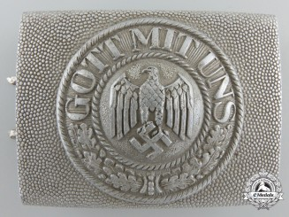 A Second War German Army First Pattern Belt Buckle 1936