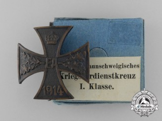A 1914 Brunswick War Merit Cross; 1st Class with Rare Original Carton