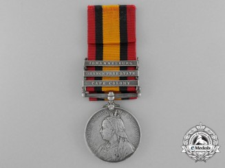 A Queen's South Africa Medal to the Duke of Connaught's Light Infantry
