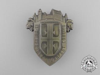 A 1924 9th District Coburg Gymnastics Festival Badge by Christian Lauer