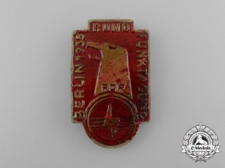 A 1935 RDR (Reichs Association of Broadcasters) Exhibition in Berlin Badge