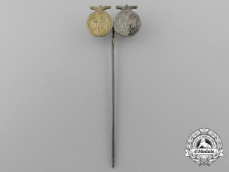 A Wehrmacht Four and Twelve Year Long Service Award Stickpin
