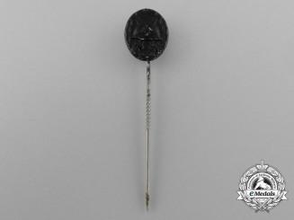 A Miniature Black Grade Wound Badge Stickpin
