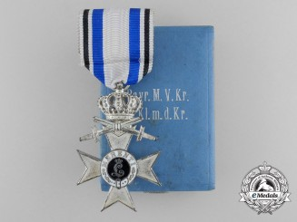 A Bavarian Military Merit Cross; 2nd Class with Crown & Swords by Deschler