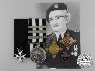 An Order of St. John Group to Corps Superintendent Mary E. Morrow