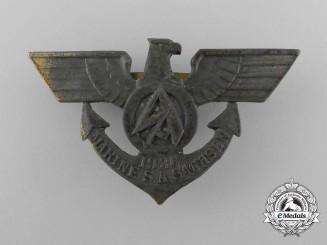 Germany, SA. A 1936 Marine SA Sachsen Membership Badge