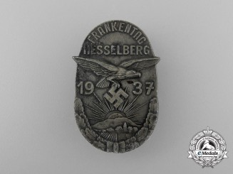 "A 1937 Hesselberg ""Day of the Franks"" Badge by C. Balmberger of Nürnburg"