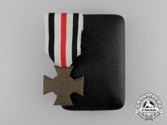 A First War German Hindenburg Cross for Non-Combatants, Cased