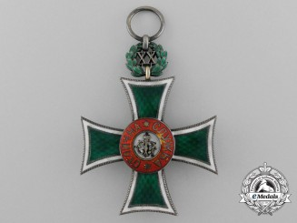 A Bulgarian Long Service Cross for Twenty Years' Service; (1889-1918)