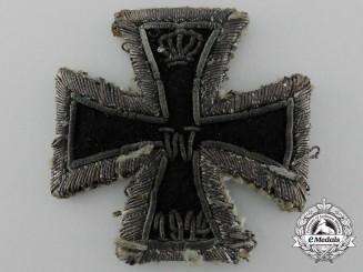 A Scarce Embroidered  First War Iron Cross 1914 First Class