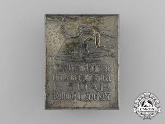 A Fine Quality 1937 NSDAP Rottach-Egern Winter Sports Championships Badge by Deschler & Sohn