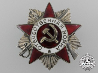 A Soviet Russian Order of the Patriotic War; 2nd Class