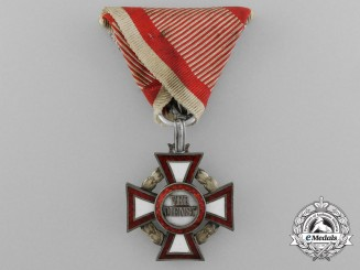 An Austrian Military Merit Cross; 3rd Class with War Decoration by V.Mayer