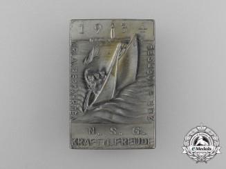 A 1934 KDF North Sea Vacation badge