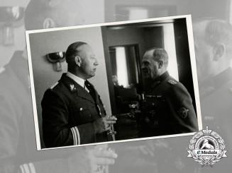 A Press Photo of Otto-Heinrich Drechsler & Eastland Administrative Official