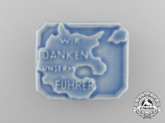 "Germany, NSDAP. A ""We are thanking our Führer"" Supporter's Badge"