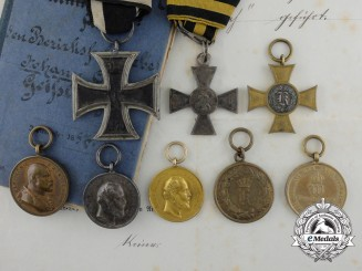 A Fine 19th Century Collection of Awards & Documents to the Royal Army of Württemberg