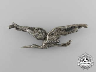 A First War French Flying Regiment Stork Badge