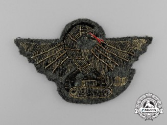 An Italian Tank Driver Bullion Badge