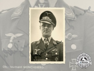 A Signed Picture Postcard of Luftwaffe Ace Joachim Müncheberg