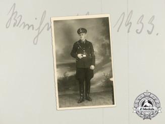 An Early 1933 Studio Portrait of an SS Member