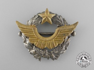 A Second War French Army Air Pilot's Qualification Badge, Rare Version