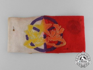 Spain, Fascist State. A Rare Blue Division Headquarters Driver's Armband