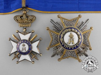 A Military Order of Adolphe of Nassau; Commander's Set