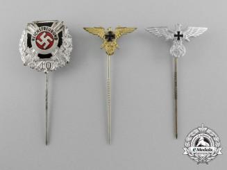 Three German Veterans Stickpins
