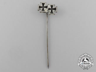An Iron Cross 1939 First and Second Class Miniature Stick Pin by Boerger & Co.