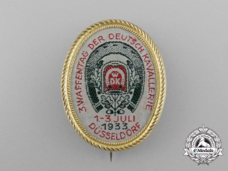 """A 1933 Düsseldorf """"3rd Day of the German Cavalry"""" Badge by Kruse & Söhne A. G."""