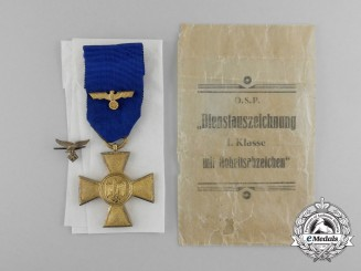 A 25-Year Wehrmacht Long Service Medal; 1st Class; in its Original Packet of Issue