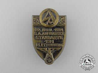 A 1934 SA Standarte 131 Plettenberg Rally Badge