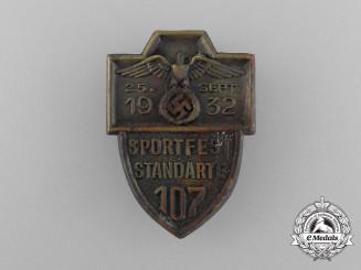 A 1932 SA Sport Festival Standarte 107 Badge