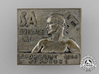 A 1933 SA Brigade Nürnberg Sport Festival Badge